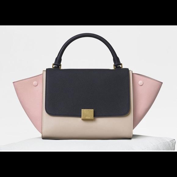 Celine Handbags - Celine Trapeze Bag Pink